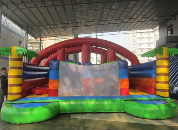 Inflatable bouncy castle 9m on 5m