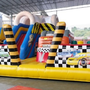 Inflatable bouncy castle Angry