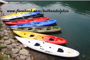 Double Sit On Top Kayak Handle Paddle Boat Inflatable
