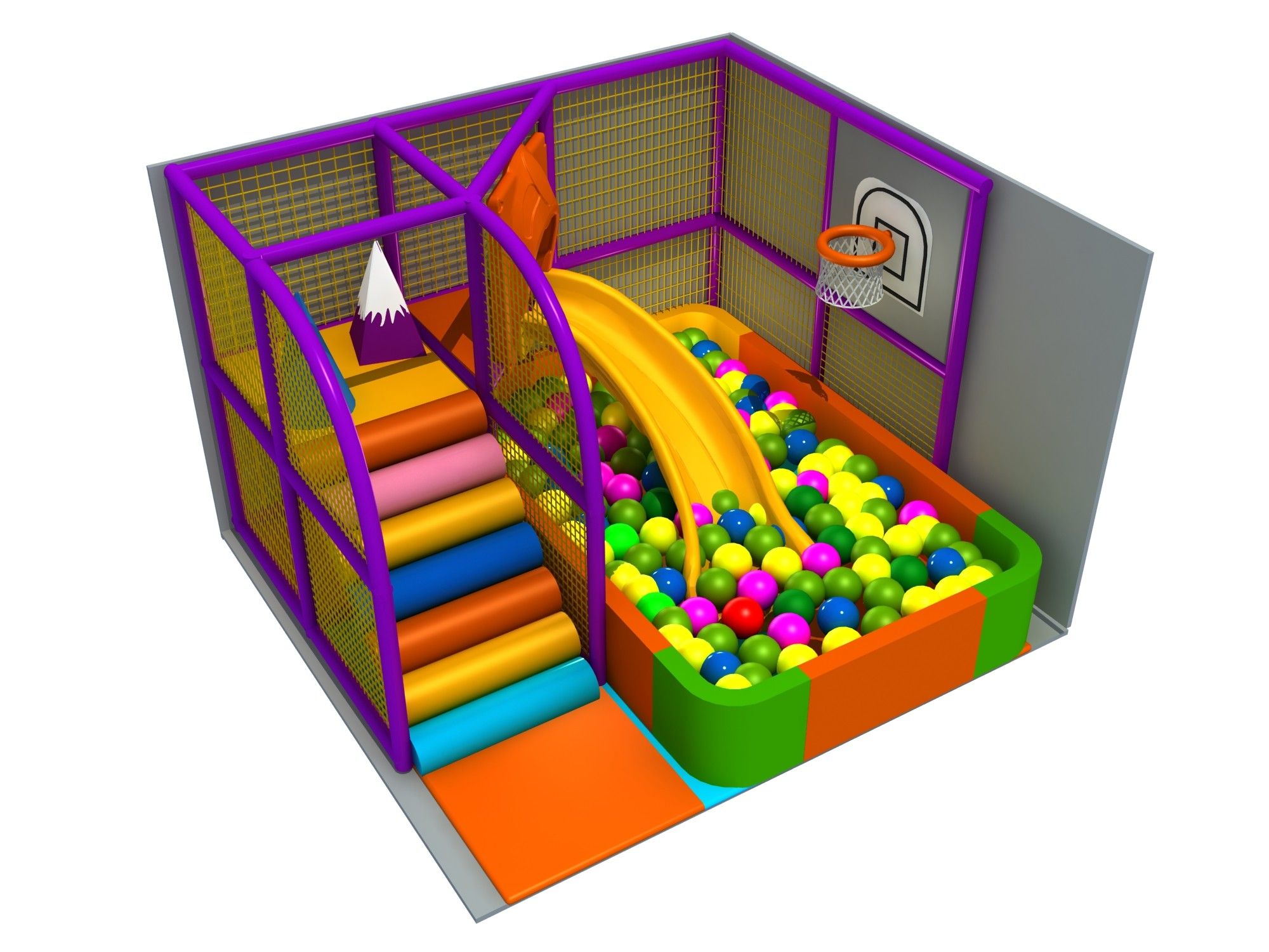 Small indoor playground area