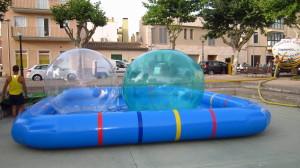 piscina hinchable waterball esfera acuatica